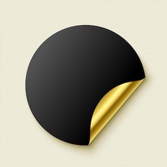 Adesivo realista dourado vazio premium