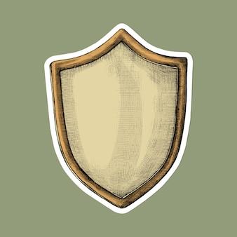 Adesivo vintage escudo desenho animado
