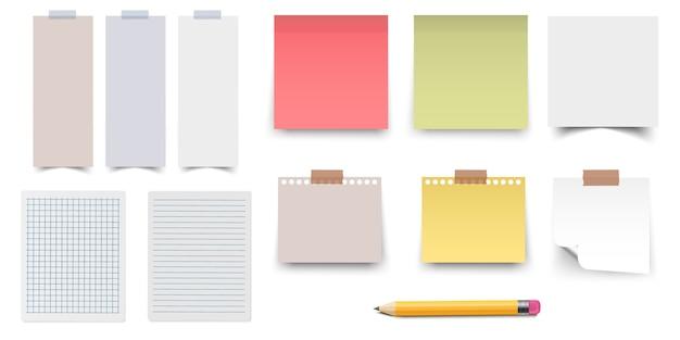 Adesivos coloridos e brancos