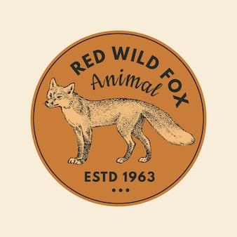 Adesivos de animais selvagens em estilo vintage