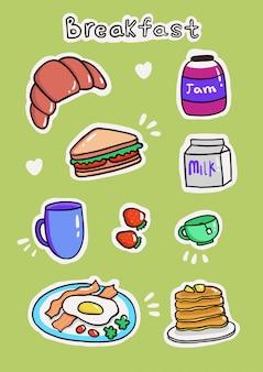 Adesivos de café da manhã