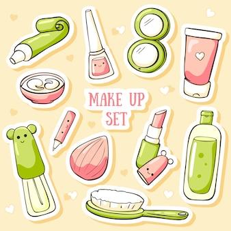 Adesivos de cosméticos bonitos