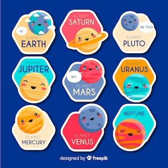 Adesivos de elementos do espaço