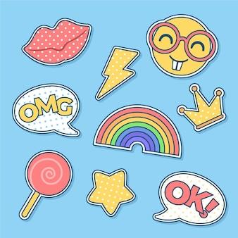Adesivos de emoji de mídias sociais engraçadas