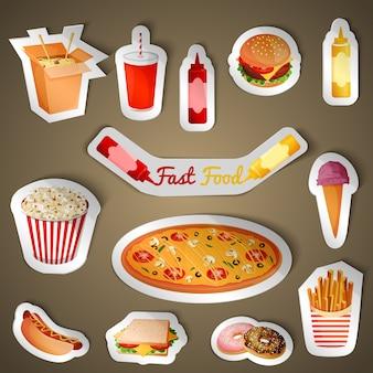 Adesivos de fast food