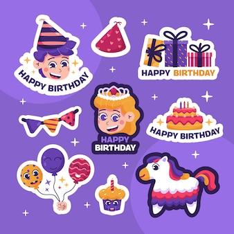 Adesivos de feliz aniversário