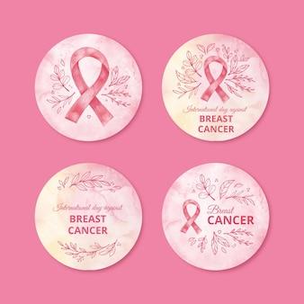 Adesivos de fitas de conscientização do câncer de mama