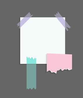 Adesivos de notas de papel. lugar para mensagens de memorando em folhas de papel