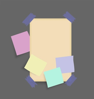 Adesivos de notas de papel