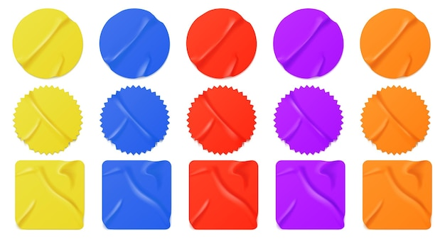 Adesivos de papel colorido