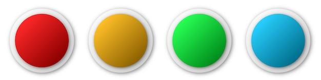 Adesivos de papel redondo ou botões. banners de papel abstrato