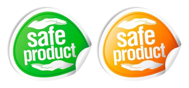 Adesivos de produtos seguros.
