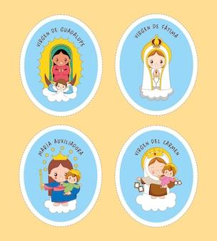 Adesivos de santa maria com linhas de recorte