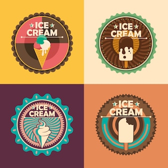 Adesivos de sorvete