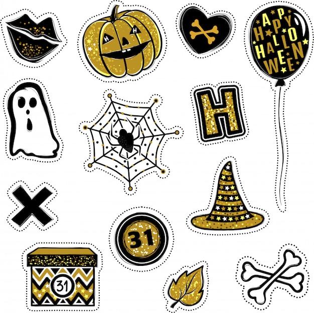 Adesivos de vetor de coleção de halloween