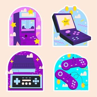 Adesivos de videogames retrô ingênuos