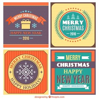 Adesivos decorativos pacote de natal