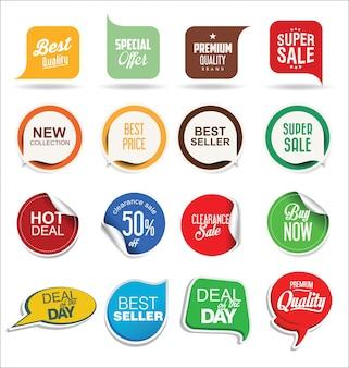 Adesivos e etiquetas de venda