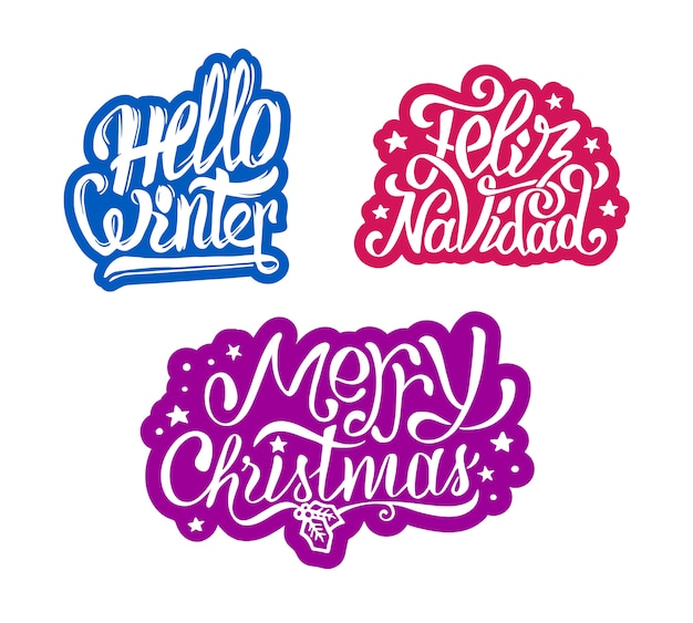 Adesivos feliz natal e feliz navidad
