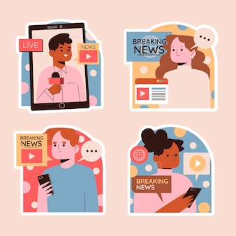 Adesivos ingênuos de notícias e política