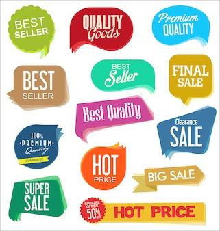 Adesivos modernos de venda