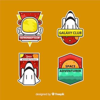Adesivos modernos ilustrados do espaço