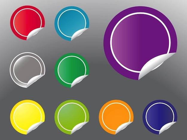 Adesivos rodada promoção logos vector