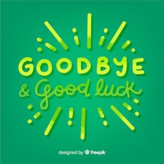 Adeus e boa sorte lettering fundo