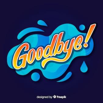 Adeus fundo de letras