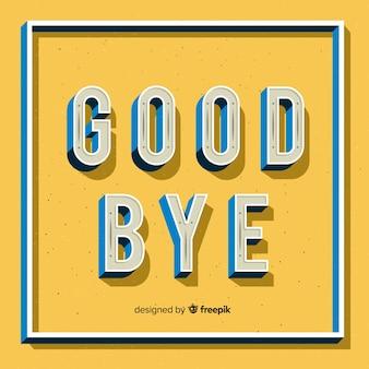 Adeus letras industriais fundo