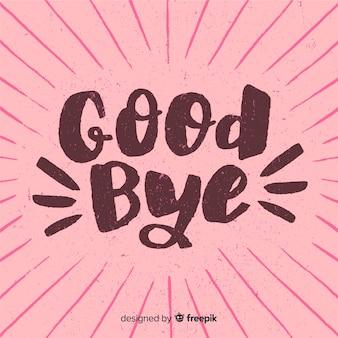Adeus sunburst letras fundo