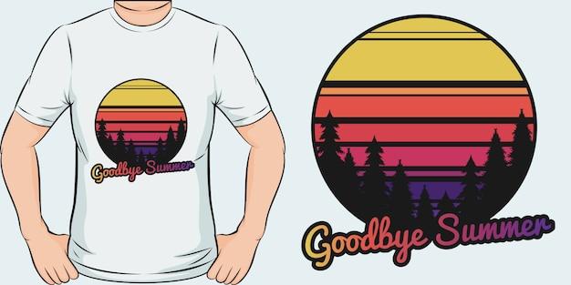 Adeus verão. design exclusivo e moderno de camisetas