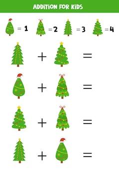 Adição com diferentes árvores de natal