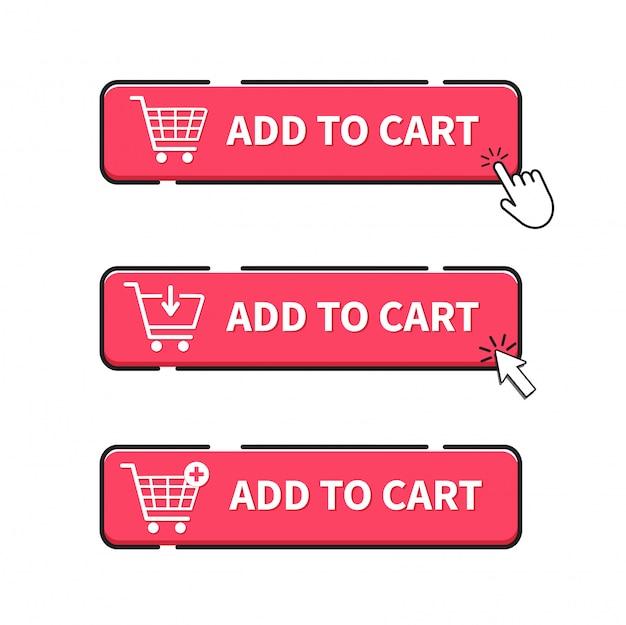 Adicionar ao carrinho botão. clique no botão