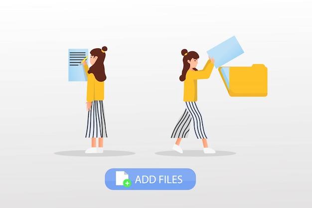 Adicionar ilustração de arquivos