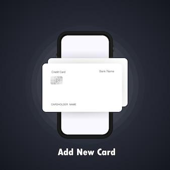 Adicionar novo cartão e smartphone com cartão de crédito