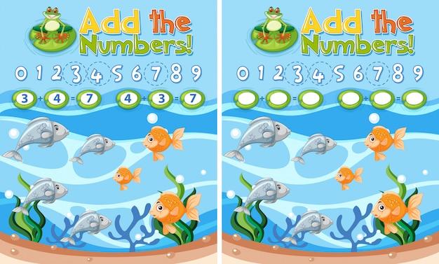 Adicione a planilha de números