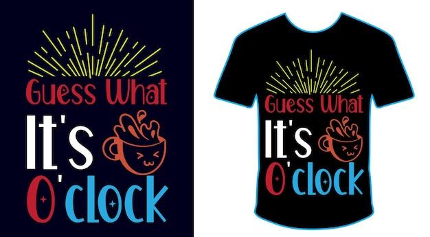 Adivinha o que é o design da camiseta com café da manhã