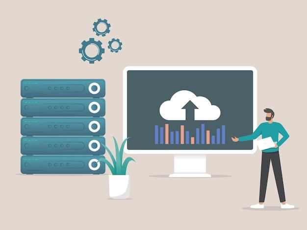 Administração de hosting services data storage server rack de servidor de hospedagem na web