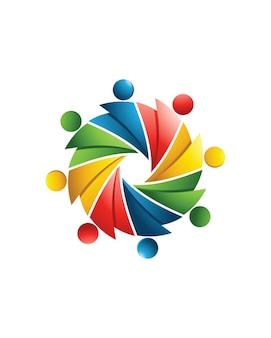 Adoção e ícone de modelo de logotipo de cuidados comunitários