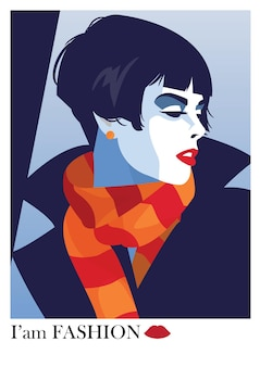 Adolescente da moda. ilustração vetorial