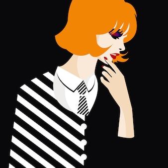 Adolescente de moda.
