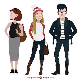 Adolescentes de moda embalar