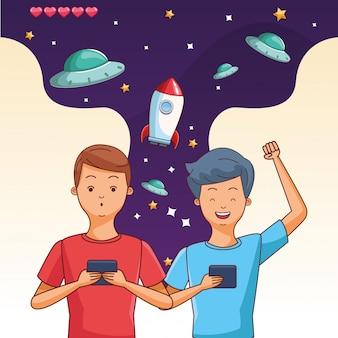 Adolescentes, jogar, videogames