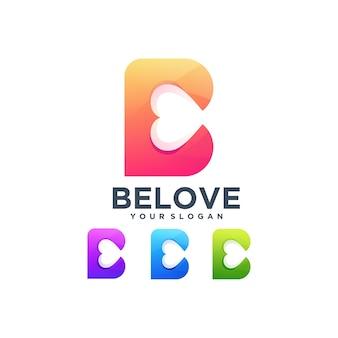 Adorada decoração de tipografia letra b