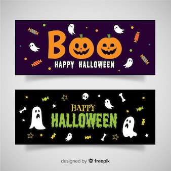 Adoráveis banners de halloween
