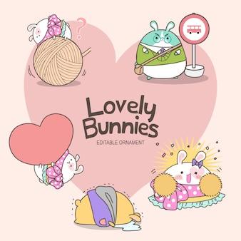 Adoráveis coelhos ashley