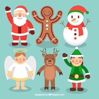 Adoráveis personagens de natal