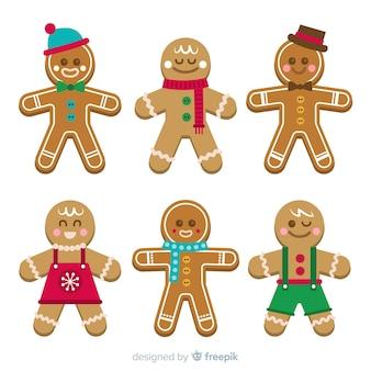 Adorável coleção de biscoitos de natal