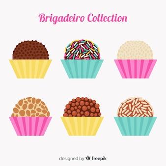 Adorável coleção de brigadeiro